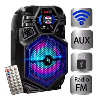 Parlante Bluetooth Inalámbrico Noga Bt800 Karaoke Led Rgb Bt