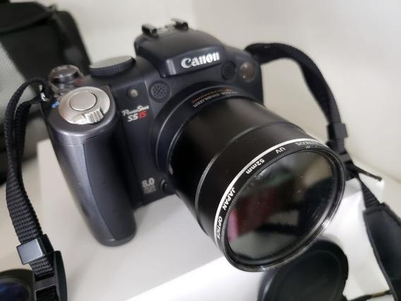 Câmera Canon Powershot S5is C Bolsa E Conjuto De Lentes