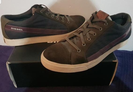 Tenis Zapatos Diésel D String Verde Oliva Vino Tinto Origina