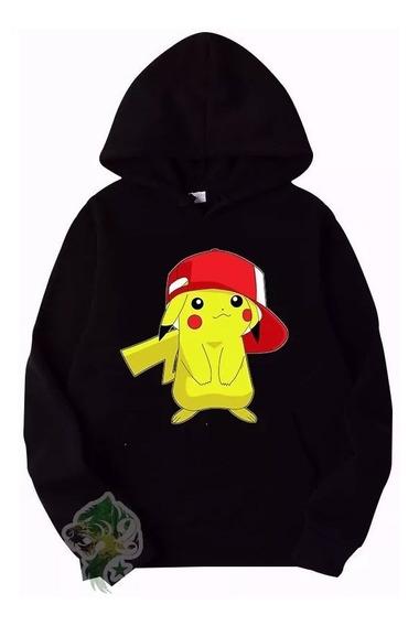 Moletom Blusa De Frio Unissex Pokemon Pikachu