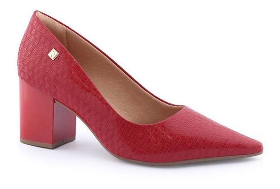 Sapato Scarpin 1987201 Verniz Salto Robusto Deluxe Ramarim