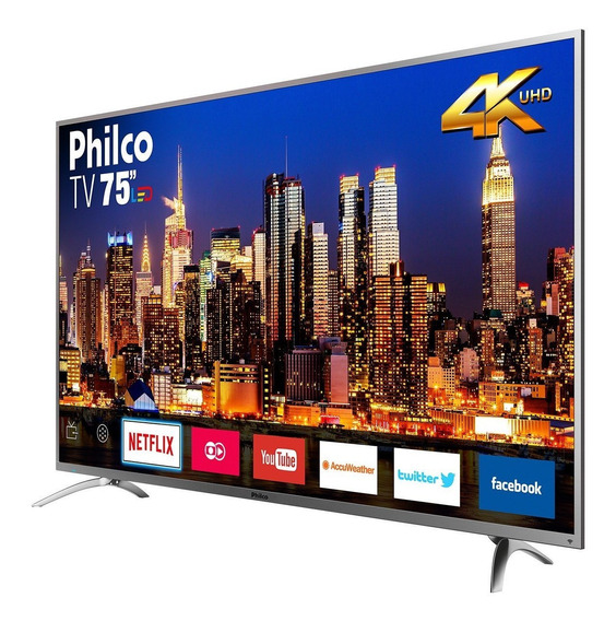 Smart Tv Philco 4k Led 75 Ptv75e30dswnt Netflix Bivolt