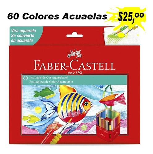 Imagen 1 de 4 de Faber-castell Lápices De Colores Acuarelables - 60 Unidades