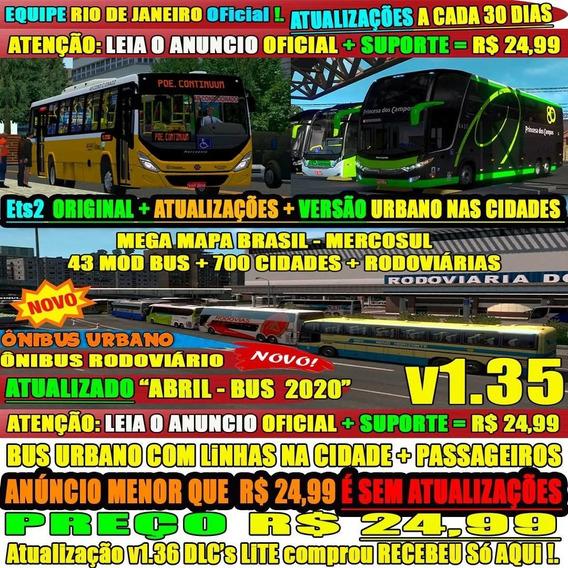 Ets2 Mod Bus Brasil 2020 Hd C/ 700 Cidades Envio Imediato
