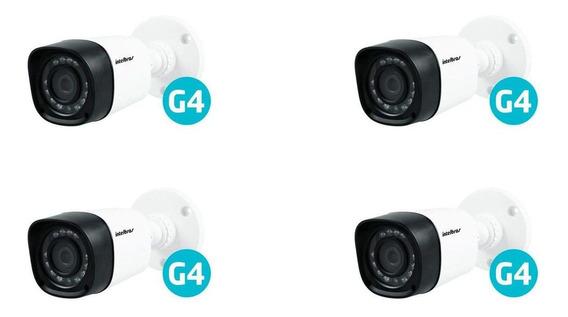 Kit Com 4 Câmeras Intelbras Vhd 1010b G4 Hdcvi Hd 720p Bullet