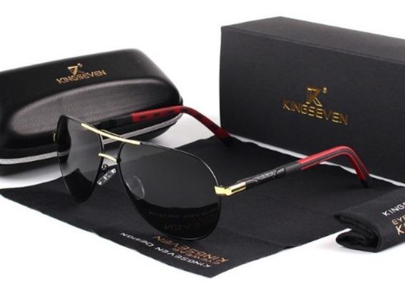 Óculos De Sol Masculino Aviador Kingseven® K725 Promoção