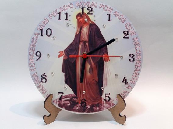 Relógio De Parede E Mesa Nossa Senhora Das Graças
