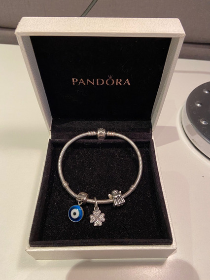 Pulseira Pandora Original C/ Caixa E 2 Charms