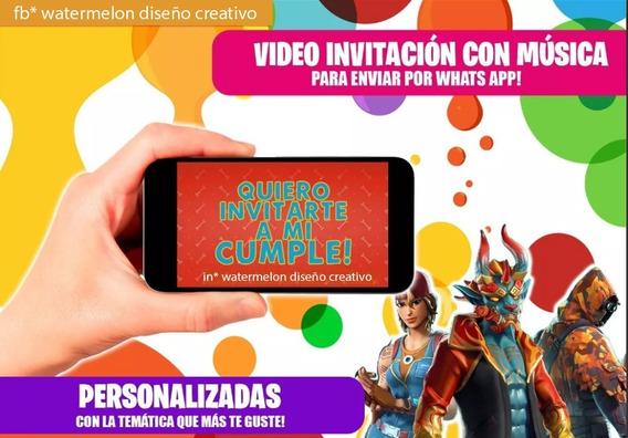 Invitación Video Tarjeta Digital Animada Y Musical Fortnite