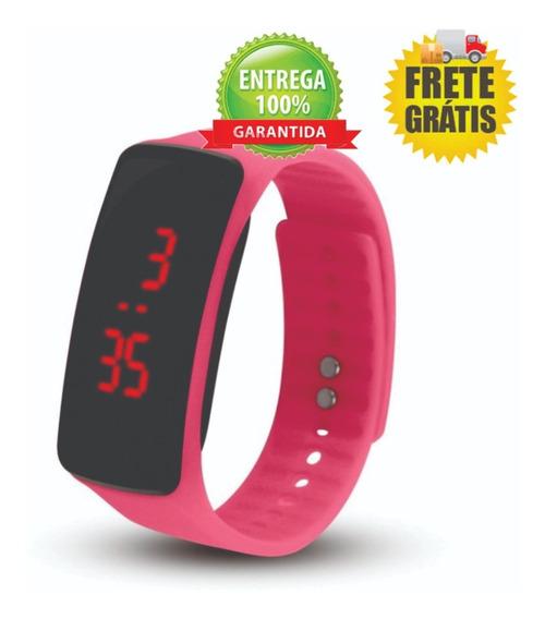 Relógio Led Bracelete Silicone Sport Fitnes Frete Grátis