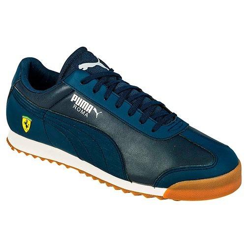 tenis puma roma clásico lona azul marino 2015 braf660a9