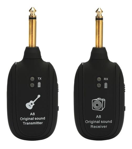 A8 Uhf Sem Fio Receptor Transmissor De Guitarra Set 730 Mhz