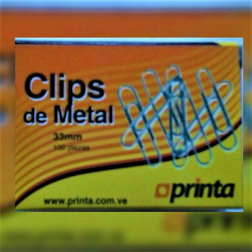 Clips De Metal Printa X 10