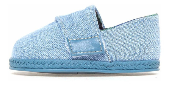 Sapato Infantil Masculino Alpargatas Azul Jeans Pimpolho