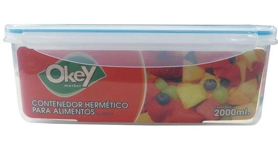 Taper Hermetico Rectangular Okey 2 L.