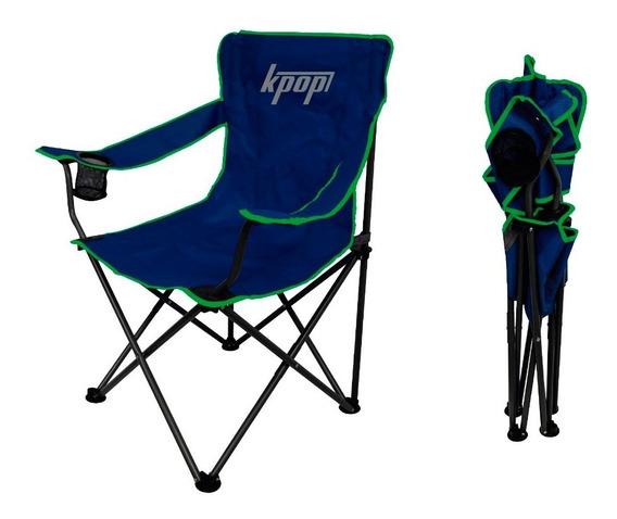 Silla Playera Plegable De Lona Camping Grande K-pop Express