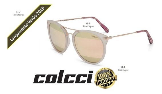 Óculos Sol Colcci Linda Espelhado Nude C0095b5239 Original