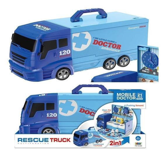 Set Camion Ambulancia 2 En 1 Con Accesorios Ck 0432