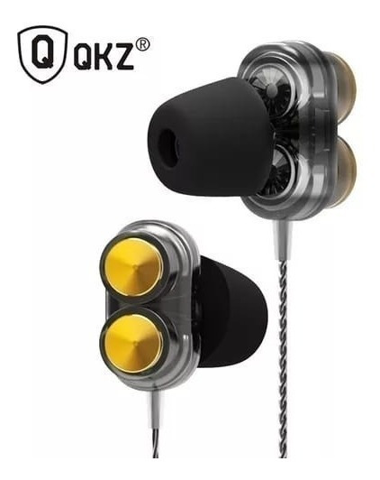 Fone Qkz Kd7 Retorno Palco Dual Driver Akg Jbl + Case E T400