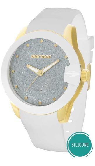 Relógio Mormaii Feminino Mo2035cu/8b Dourado Branco