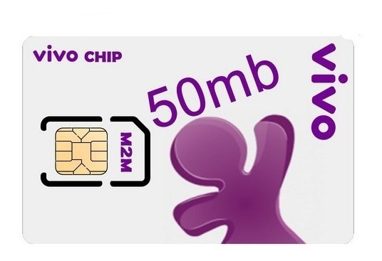 Chip M2m: 50 Mb Vivo + Plataforma + Aplicativo