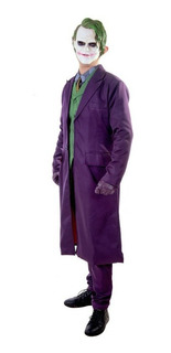Roupa Coringa Joker Do Batman Completa Cosplay Halloween