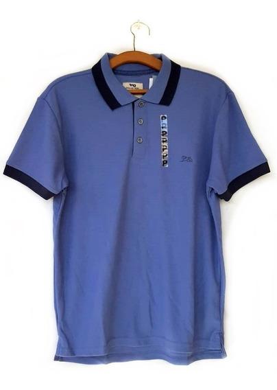 Camisa Polo Masculina Tng Lisa Azul