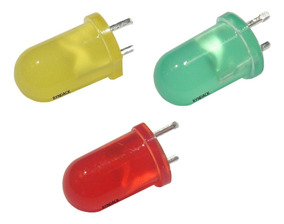 Kit 100 * Led Difuso 5mm Vermelho Verde Amarelo Azul