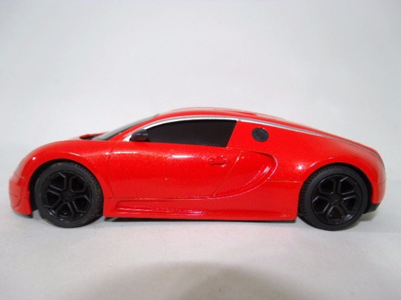Miniatura Bugatti Veyron Escala 1:24 Marca Jt Toys Laranja