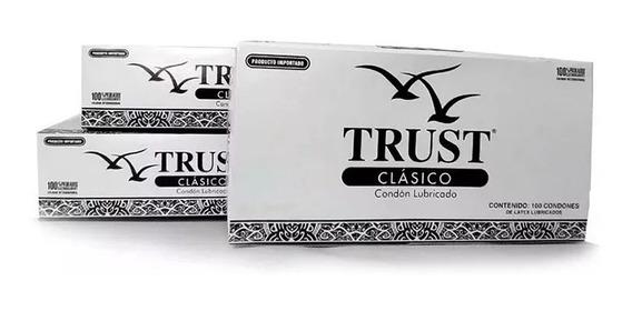 Preservativos Condones Trust 100 Piezas - ¡envío Gratis!