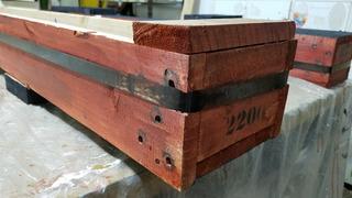 Macetero / Huerto Vertical Artesanal Solidario-madera 2mts!