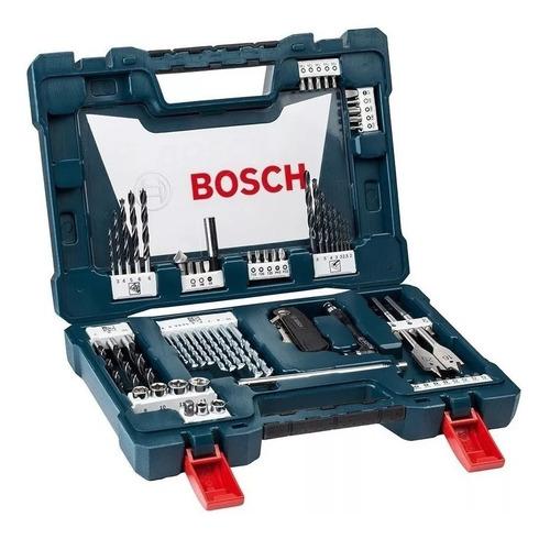 Imagen 1 de 8 de Set Kit Juego Bosch V Line 68 Piezas Puntas Mechas Tubos