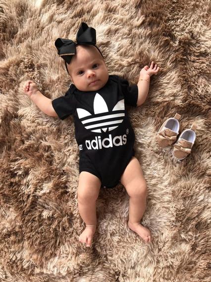 Body Bebê adidas Personalizado 100% Algodão
