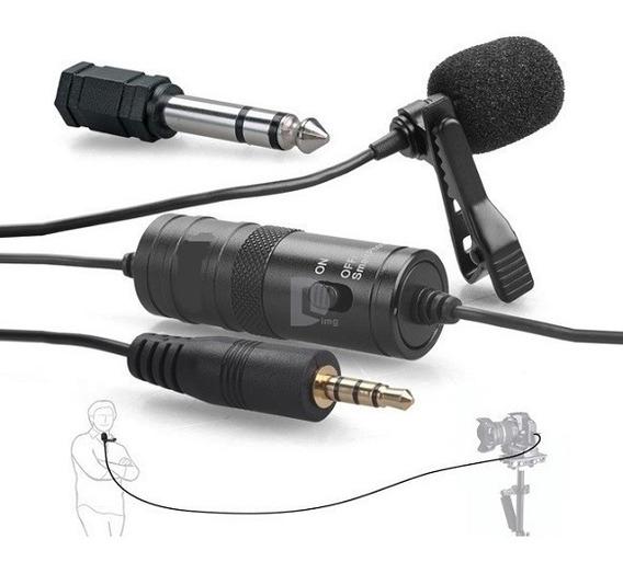 Microfone Lapela Para Celular Youtube Com Fio Gk-cm1 Greika