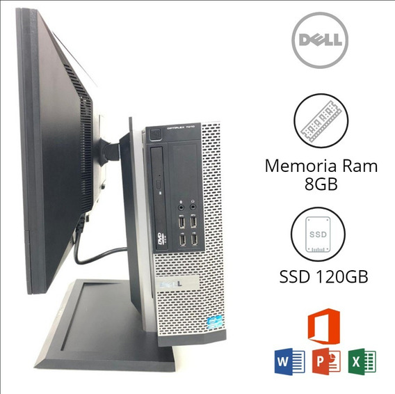 Cpu E Monitor Dell 8gb Ram, Core I7-3° Ger O Menor Custo!