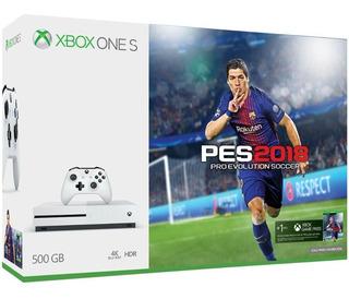 Consola Microsoft Xbox One S Blanca 500 Gb + Pes 2018