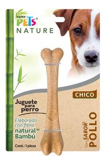 Juguete Hueso De Bambu Ch Sabor Pollo Env Gratis