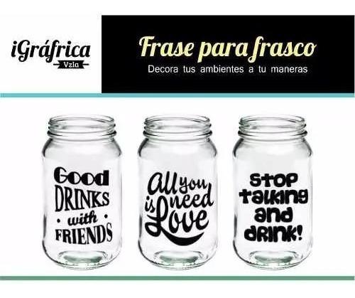 6 Calcomanias O Etiquetas De Vinil Para Frascos