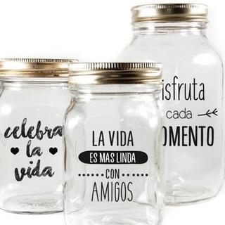 Vinil Etiquetas Decorativos Para Frascos ,vasos Cooler