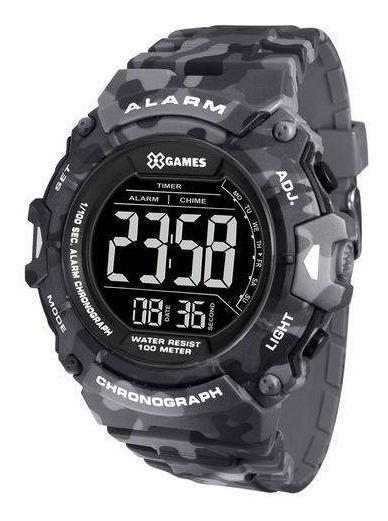 Relógio Masculino X-games Xmppd487 Pxgp Camuflado Cinza
