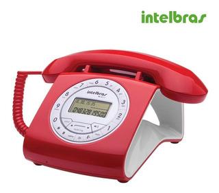 Telefone Retrô Com Fio Intelbras Vermelho