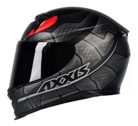 Capacete Moto Axxis Mt Snake Preto Fosco