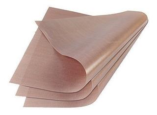 Pack 3 Hojas De Teflon 40x40cm Altas Temperatura Sublimacion