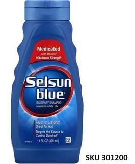 Shampoo Selsun Azul Medicado Con Mentol Anticaspa, 11 Oz W01