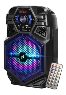 Parlante Inalámbrico Noga Bt800 Karaoke Led Rgb Bluetooth