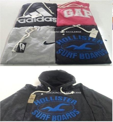 Moletom Nike, adidas, Hollister, Abercrombie Etc C/ 10