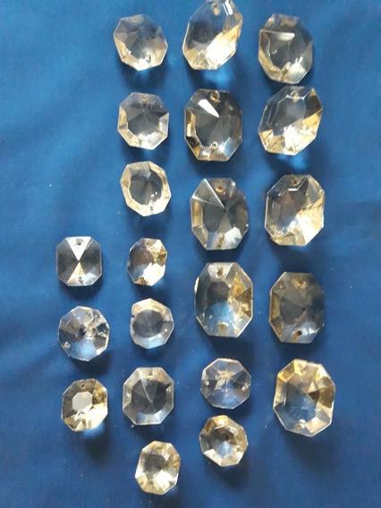 Caireles De Cristal Botones Facetados 40mm X 30mm.