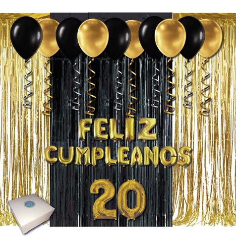 Kit Decoración Cumpleaños Sencillo+globo De Feliz Cumpleaños