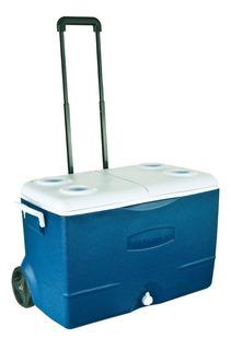 Hielera 50qt C/ruedas Azul Rubbermaid R-h50ra Fg2a9202modb