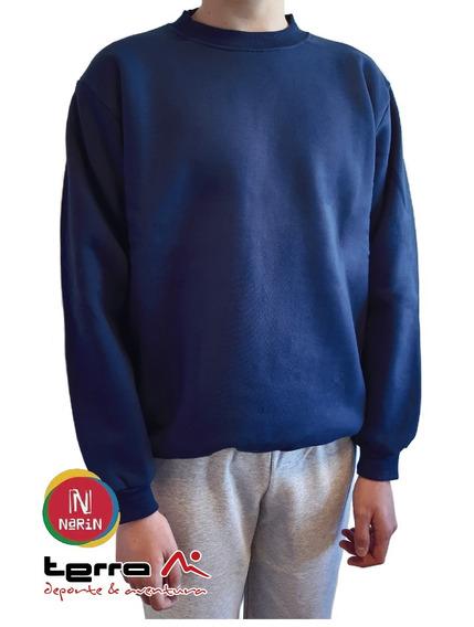 Buzo Colegial Narin Azul Con Friza Adulto